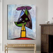 Head Of Woman Pablo Picasso Canvas Painting Prints Living Room Home Decoration Modern Wall Art Oil Painting Posters Pictures HD pablo picasso woman canvas painting prints living room home decor artwork modern wall art oil painting poster accessories art hd