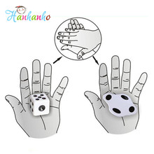 10pcs/lot Close-up Dice Magic Trick Beat Flat Dice Easy To Learn Mini Magic Props Toys fun Toy Gift Favors Supplies