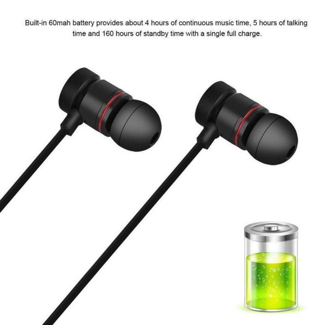 Magnetic Wireless Bluetooth Earphones Waterproof Sports Stereo Earbuds Wireless Headphone for IPhone Huawei Smartphone with Mic