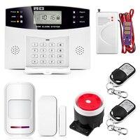 Sem fio gsm sistema de alarme lcd teclado janela da porta pir detector movimento intercom alarme segurança em casa para apartamento segurança|Kits de sistema de alarme| |  -