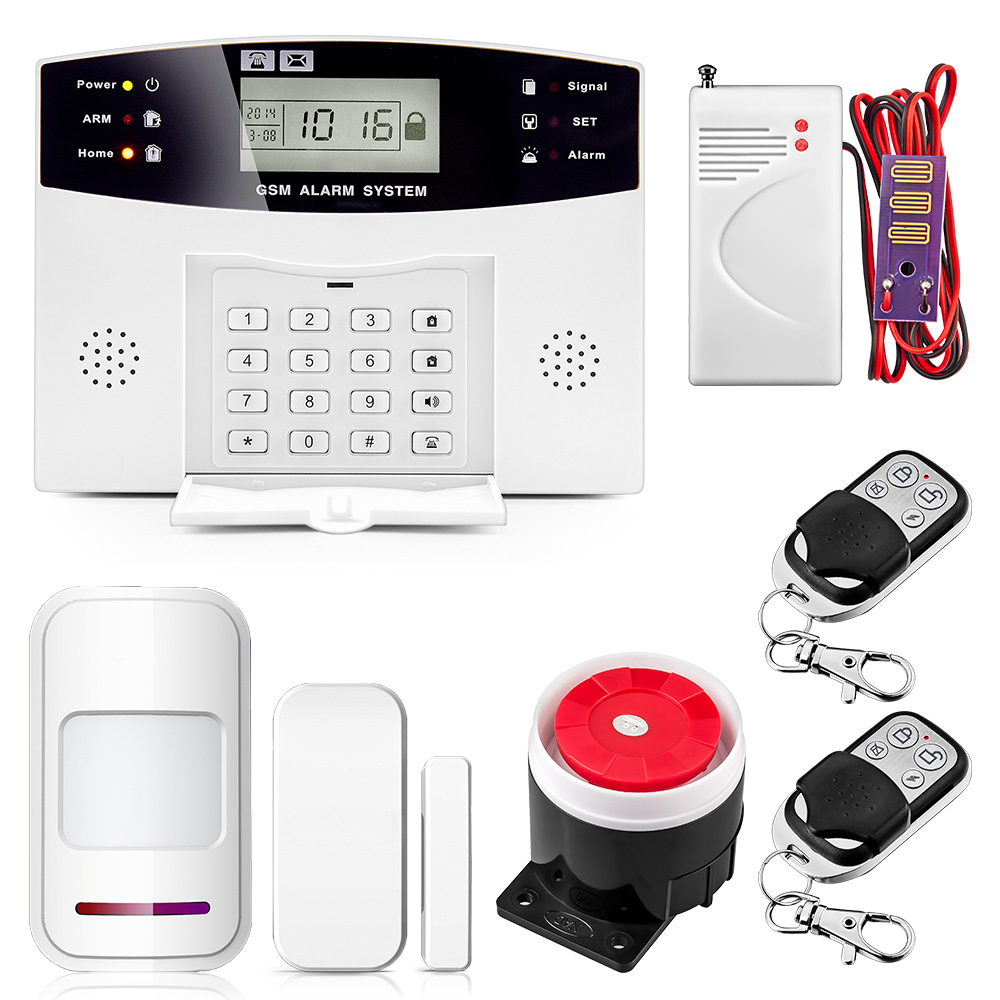 Wireless GSM Alarm System LCD Keyboard Door Window PIR Motion Detector Intercom Home Security Alarm For Apartment Security