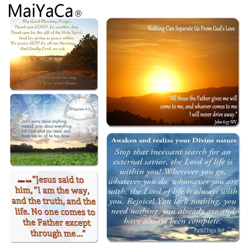 MaiYaCa 2018 New mornings bible verses Laptop Gaming Mice Mousepad Size for 18x22cm 25x29cm Small Mousepad