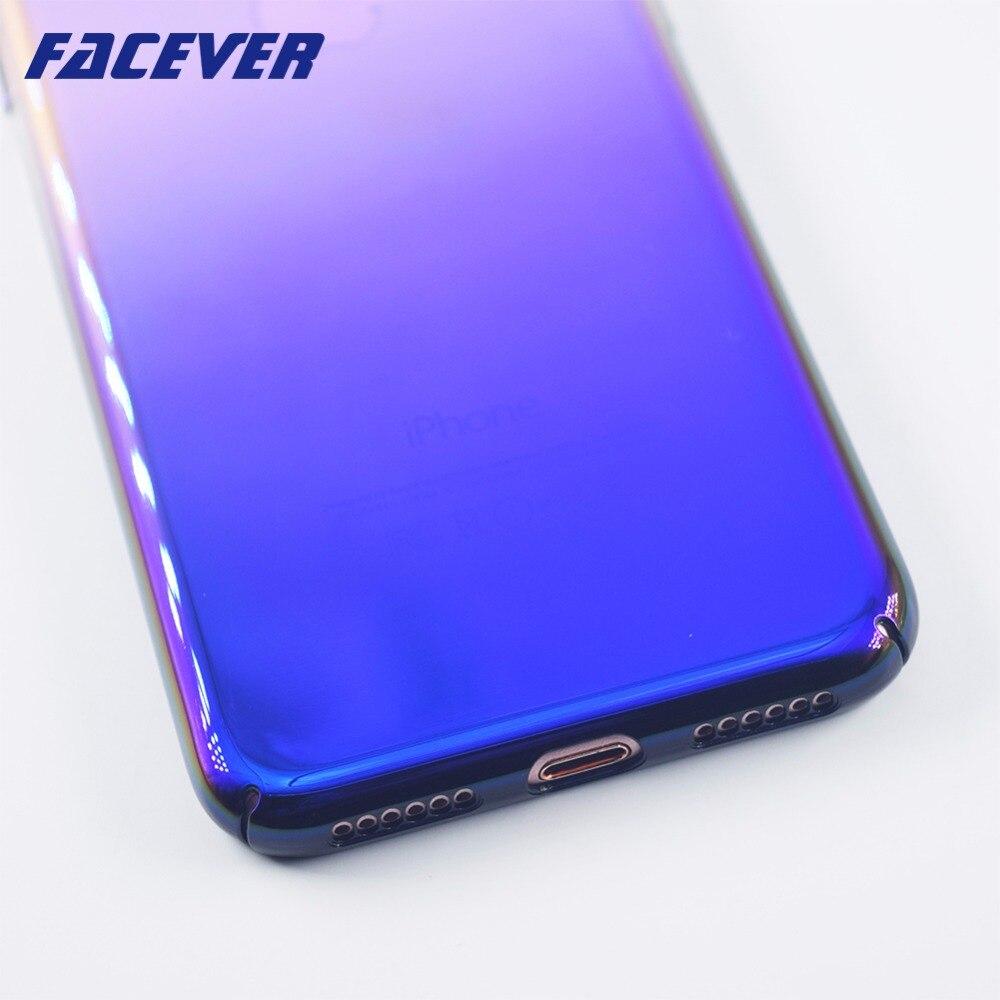 Caso para apple iphone 7 7 plus nueva linda aurora de color degradado caso para