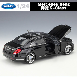 Image 3 - High Simulation WELLY 1:24 Classical Diecast Car Benz S Class Metal Alloy Model Car Toys For Children Gift Toy Car Collection