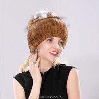 Natural Beaver Color Fur Cap Female Rex Rabbit Hat Health Hat Winter Hat