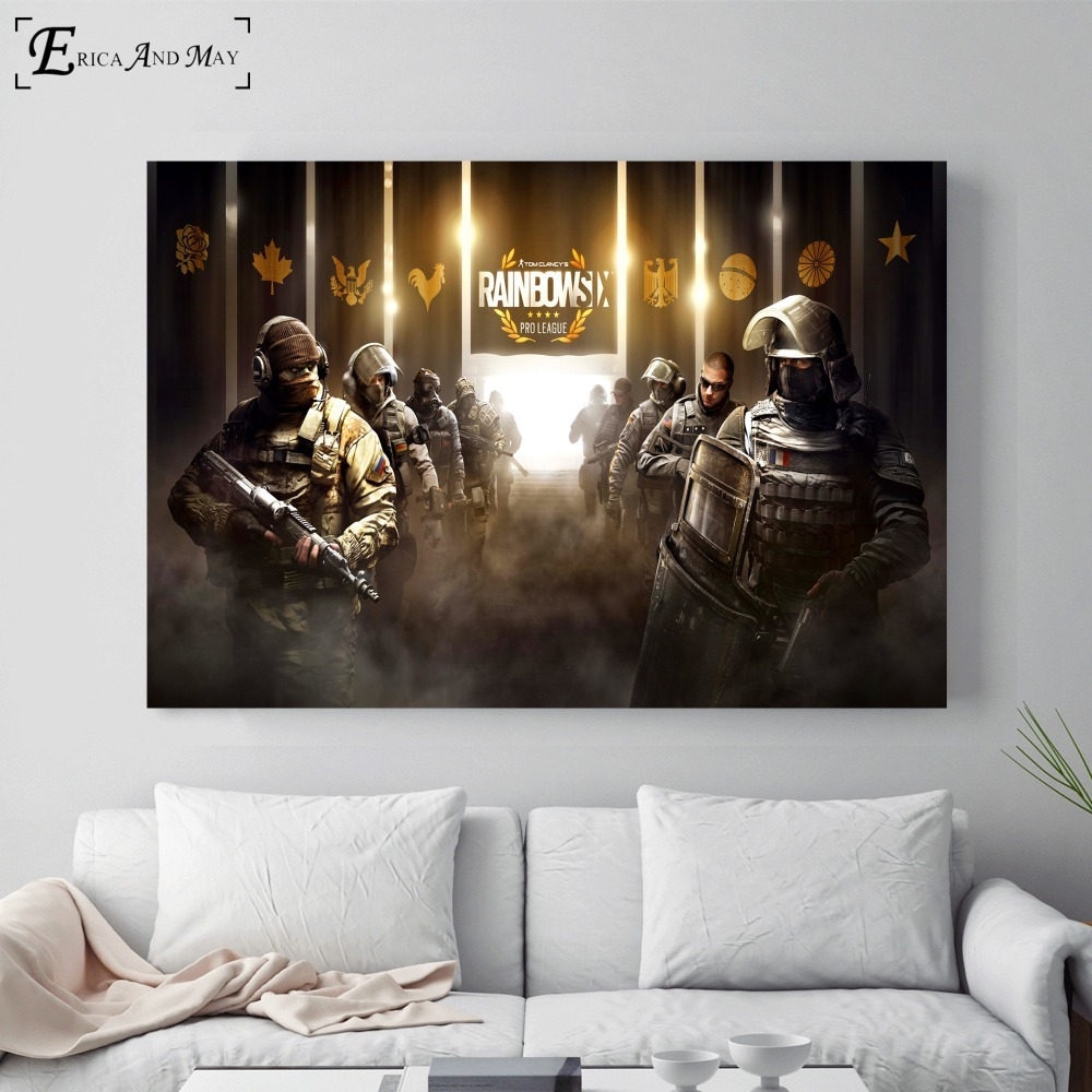 TOM CLANCY/'S RAINBOW SIX SIEGE GAME WALL ART POSTER A1 - A5 SIZES AVAILABLE