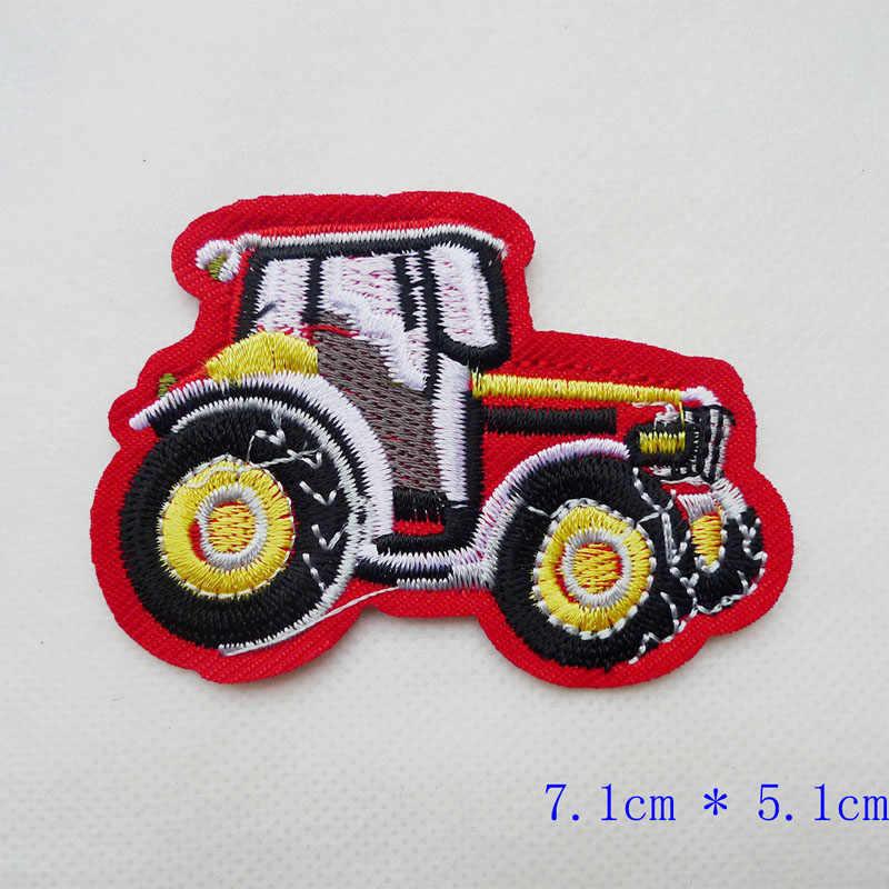 Pszczoła samochód nożna kału haftowane żelazko na plastry dla zwierząt dla odzież paski naklejki Appliqued odznaka akcesoria do szycia odzieży