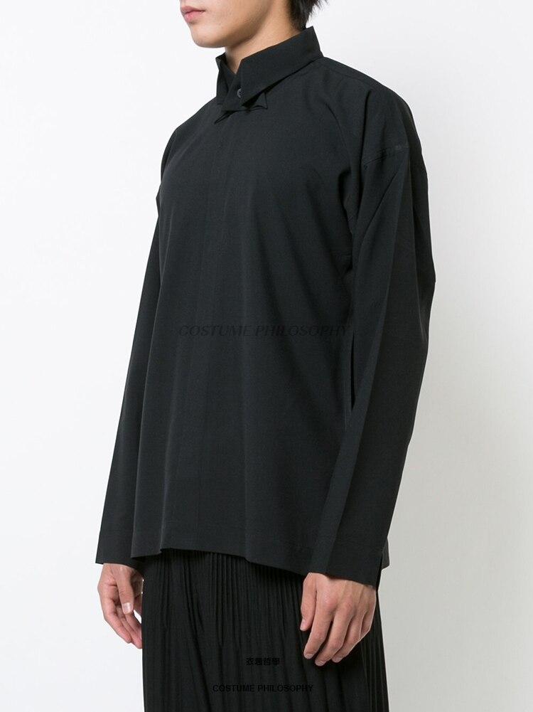 M 6XL! Di alta qualità marchio di abbigliamento maschile 2018 Yamamoto nuovo camicia a manica lunga con collare farfalla - 2