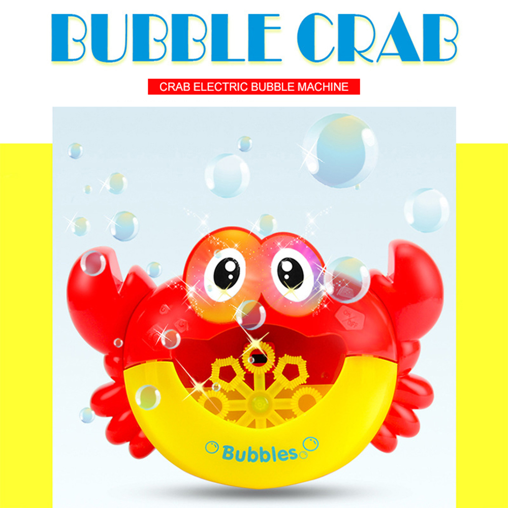 Dropshipping Blowing Bubble Machine Soap Crabs Kids Pool Swimming Bathtub  Automatic Bubble Maker Baby Bath Toy For Children