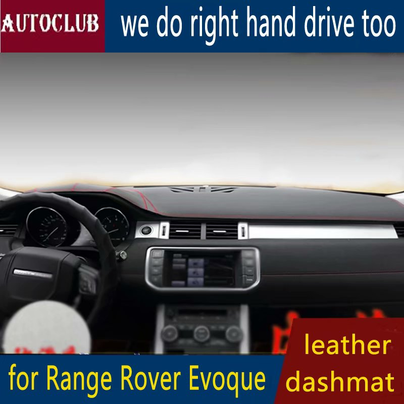 For Range Rover Evoque 2011-2018 Leather Dashmat Dashboard Cover Car Pad Dash Mat SunShade Carpet Cover 2012 2013 2014 2015 2016