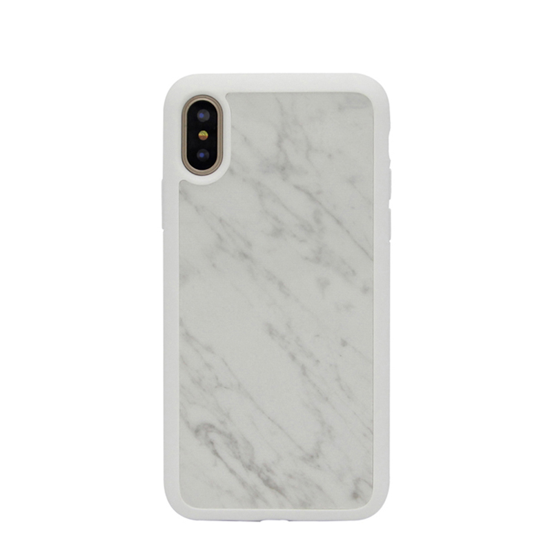 Luxury Gift Real Natural Marble Case Cover for iPhone X Hard Back TPU Case for iPhone X
