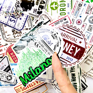 Image 2 - 60pcs/lot Retro Traveling Boarding Pass Air Tickets creative Suitcase stickers for Laptop Luggage Bags Bike Phone car Sticker