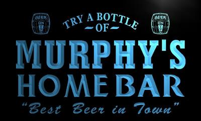 x1059-tm Murphys Home Bar Beer Custom Personalized Name Neon Sign Wholesale Dropshipping On/Off Switch 7 Colors DHL