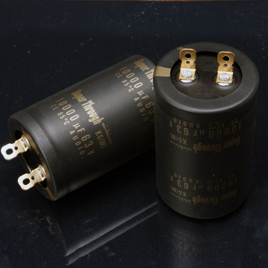 Купить с кэшбэком 2018 hot sale 2PCS nichicon audio electrolytic capacitor KG Super Through 10000Uf/63V free shipping