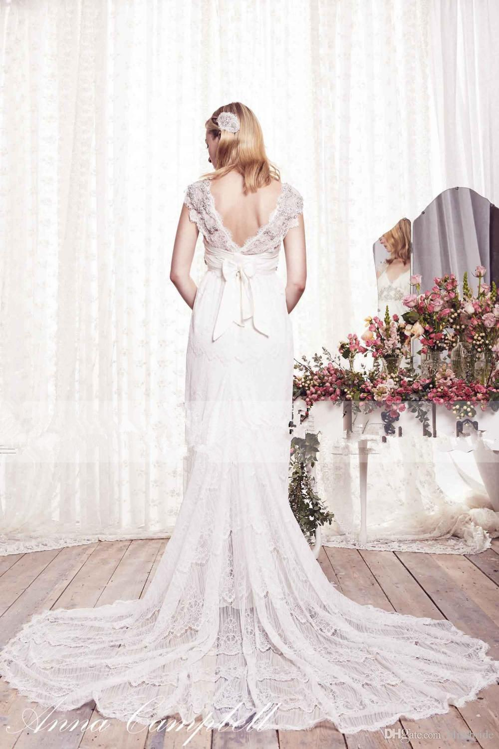 Compare prices on anna campbell dress online shopping buy for Vintage maternity wedding dresses