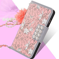 Case For Xiaomi Mi6 Cover Luxury Flower Flip Card Slot Leather Lovely With Strap Wallet Phone