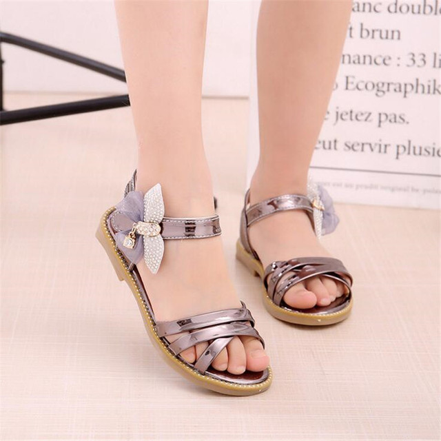 Kids Design New Summer Sandals Princess 2018 Girls Rhinestone Shoes SqMVpUz