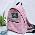 women simple pink japanese style velvet soft backpack middle school cute girl literature design Harajuku Doube Shoulder Bags