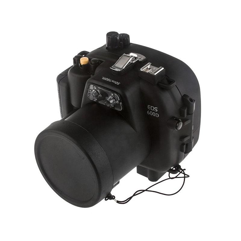 Ready Stock! Meikon 40m/130ft Underwater Waterproof Housing Case for Canon  600D Rebel T3i 55mm Lens ready stock meikon waterproof underwater housing camera diving case for canon power shot g11 12 lens wp dc34