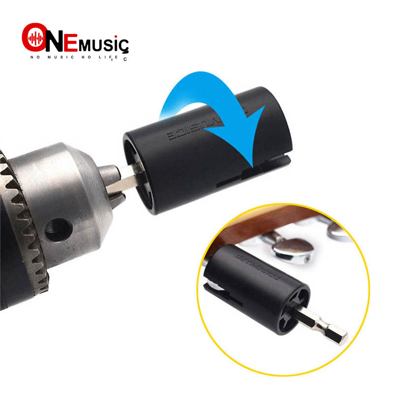 Assemble Electric Drill Hexagonal Guitar String Winder Head Tools For Electric Acoustic Guitar Bass Parts & Accessories
