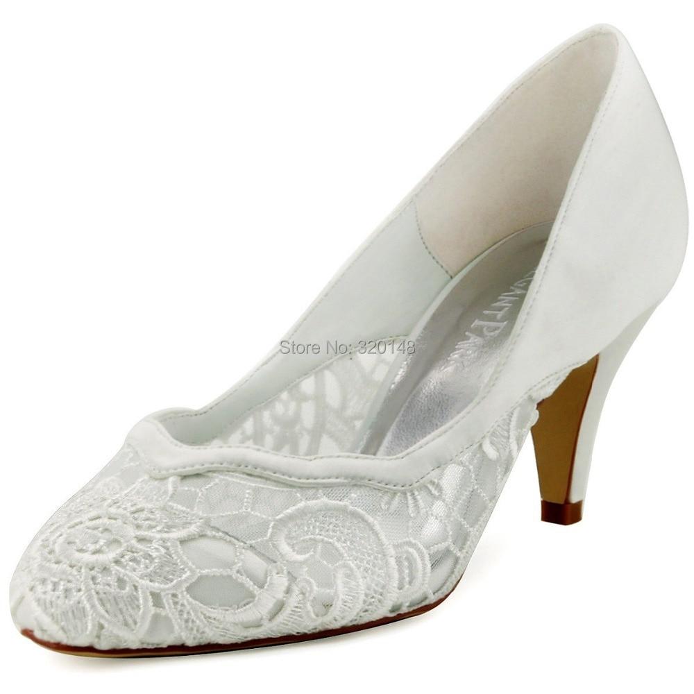 Ivory Chunky Heels