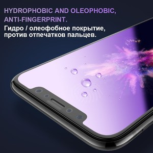 Image 4 - 0.23mm 3D מעוקל מזג זכוכית עבור iPhone X RONICAN רך קצה בחדות גבוהה אנטי כחול אור מסך מגן עבור iPhone XS