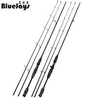 BlueJays 2.1M Tournament Double Tips M ML Hard Casting Spinning Lure Fishing Rod Carbon Fiber Cane Pole Stick Medium Fast 5 20g