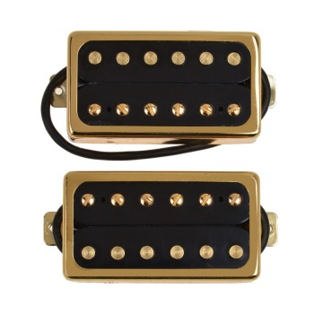 цена на Kmise Electric Guitar Pickups Humbucker Double Coil Pickup Bridge Neck Set Guitar Parts Accessories Black with Chrome Gold Frame