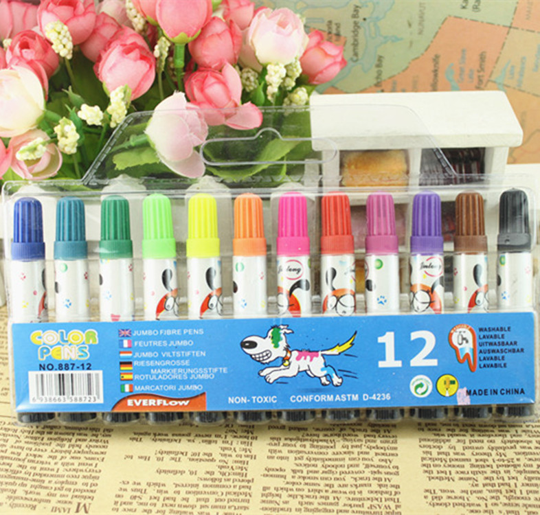 Студент канцелярские Детские оборудования необходимо мешках 12 ручка 12 цветов Акварельная живопись ручка