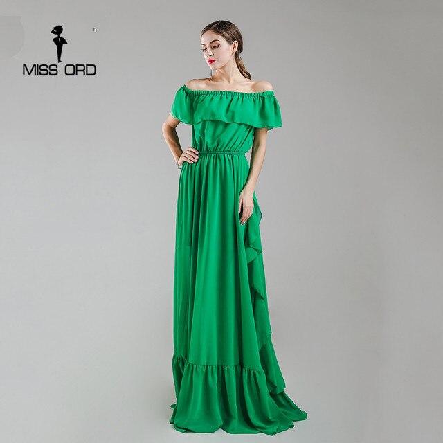 Missord 2018 Sexy ruffles strapless   fold maxi dress party dress FT4984-2