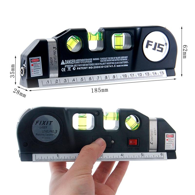 FJS 4 en 1 Nivel de láser infrarrojo Línea cruzada Cinta láser - Instrumentos de medición - foto 2