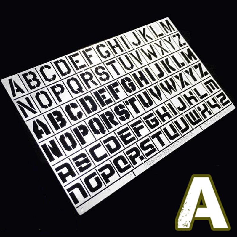 Military <font><b>Model</b></font> <font><b>1</b></font>/<font><b>35</b></font> <font><b>German</b></font> Armed Vehicle Heavy Duty Standard Equipment Designation English Alphabet Leakage Spray Board A image
