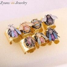 5 قطع ZYZ315 4742 عالية الجودة الأزياء الذهب اللون حلقة مايكرو تمهيد تشيكوسلوفاكيا الحشرات خاتم المرأة مجوهرات