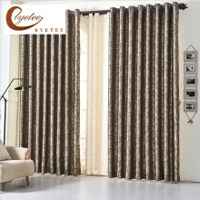 [byetee] European Jacquard Window Curtain Kitchen Blackout Ready Made Curtains Purple For Bedroom Modern Living Room Luxury