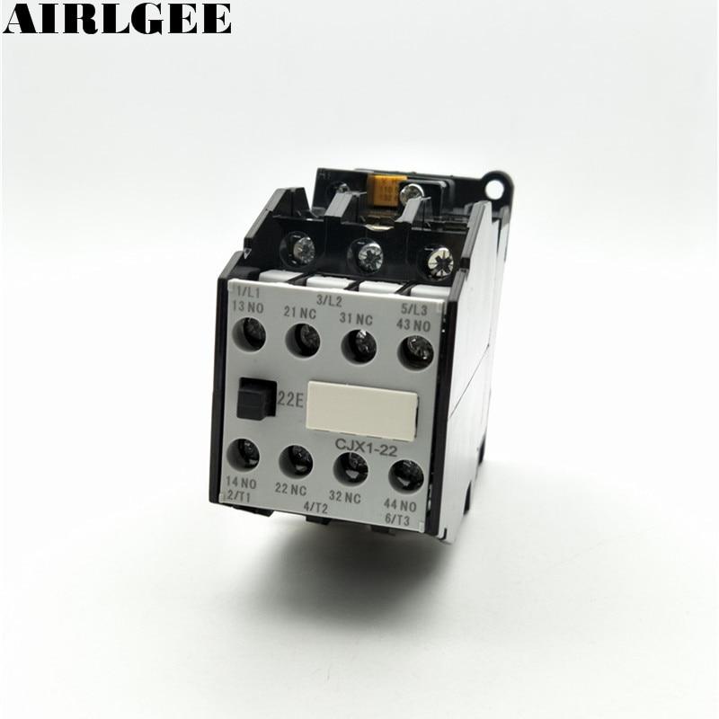 CJX1-22 Motor Controler AC Contactor 380V 22A 50Hz Coil 3P 3 Pole 2NC 2NO cj20 25 motor control 25a ac contactor 3 pole 2nc 2no 24v 36v 110v 220v 380v coil voltage