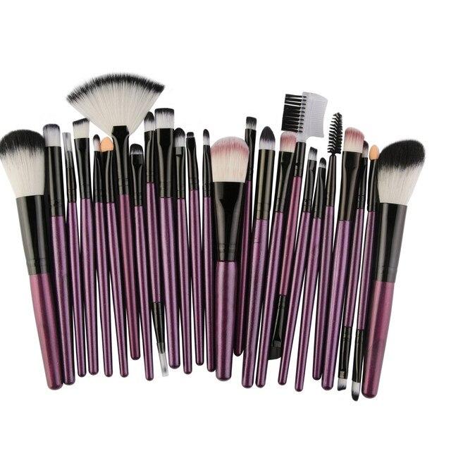 Juego de brochas de sombra de ojos con brochas para maquillaje cosmético 25 piezas
