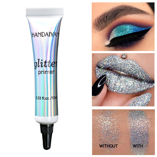 Sequin Glitter Primer Eyeshadow Pigment Cream Face Lip Eye Makeup Primer Cream SSwell