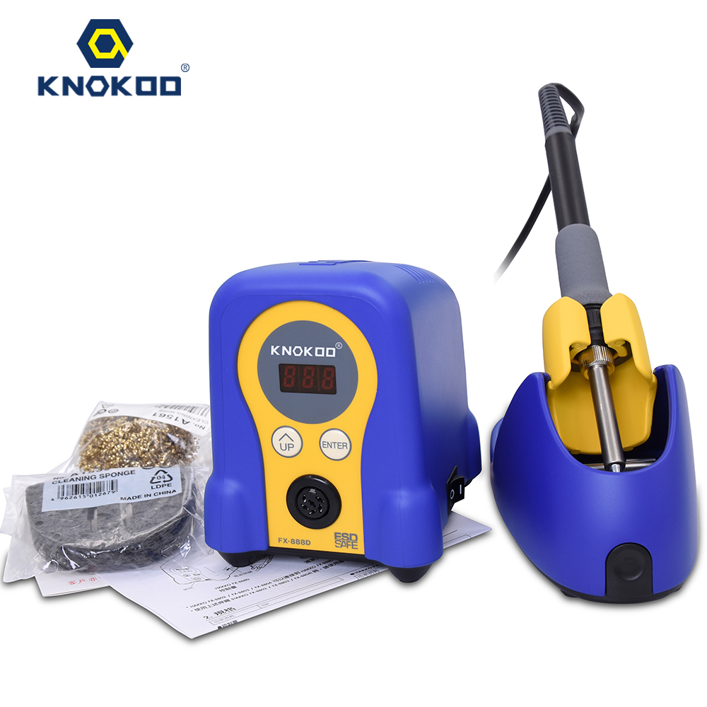 Knokoo 70W FX-888D Lead Free Smd Rework Soldering Station with Digital Display