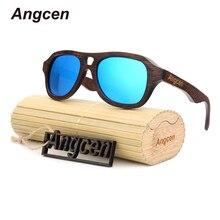 Angcen Новинка 2017 года модные товары Для мужчин Для женщин Bamboo Солнцезащитные очки для женщин Поляризованные линзы деревянного Рамка HA ZB88