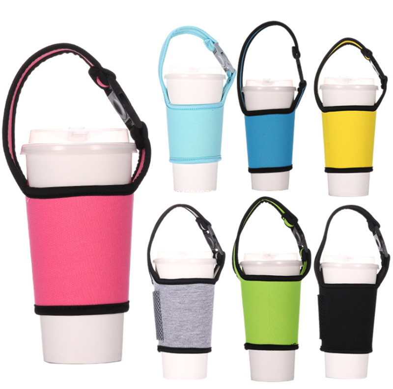 Sports Drink Water Bottle Protector Cover Hanging Holder Bag Carrier with Strap