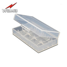 цена на 1x 18650/16340/14500 Battery Storage Box  Hard Plastic Case Holder in PP Materials Protect  Cells Container Wholesales