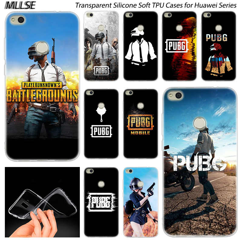 Hot PUBG game Soft Silicone Case for Huawei NOVA 3 3i 4 Honor 7A Pro  7S 6X 7X 8X 8 9 10 Lite Play View 20 Fashion Cover