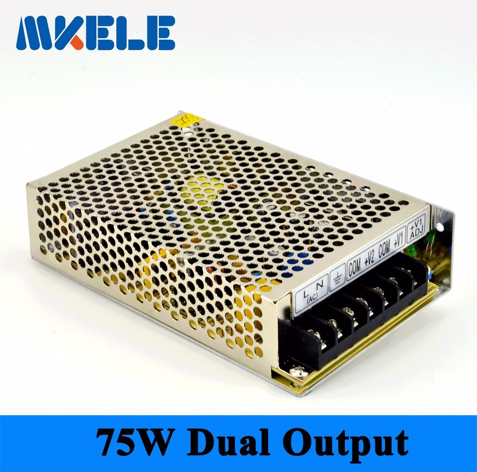 New product NED-75A 75W + 5V7A + 12V3A two outputs switching power supply from maker electric china a product of two worlds