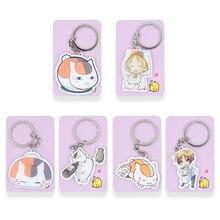 6 Styles Natsume Yujincho Keychain Keyrings Fashion Jewelry Key Chains Custom made Anime Key Ring PSS223