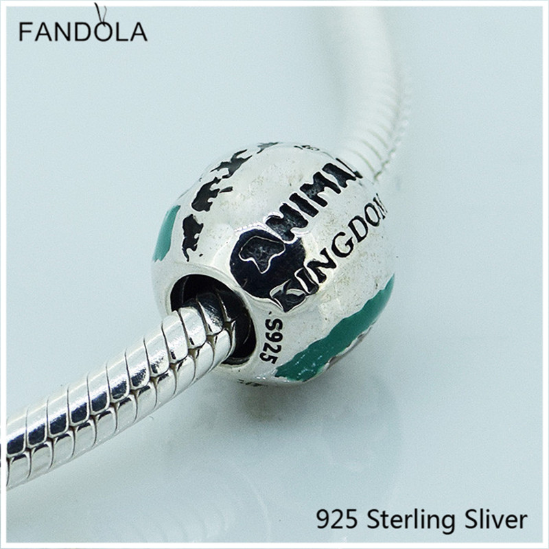 925 Sterling Silver Cartoon Animal Kingdom Theme Park Charm Beads Fits For Pandora Bracelet and Necklace Charms