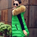 Cheapest Womens Rabbit Fur Collar Hooded Cotton Padded Vest Casual Large Size Solid Color Winter Autumn Vest Warm Waistcoat J334