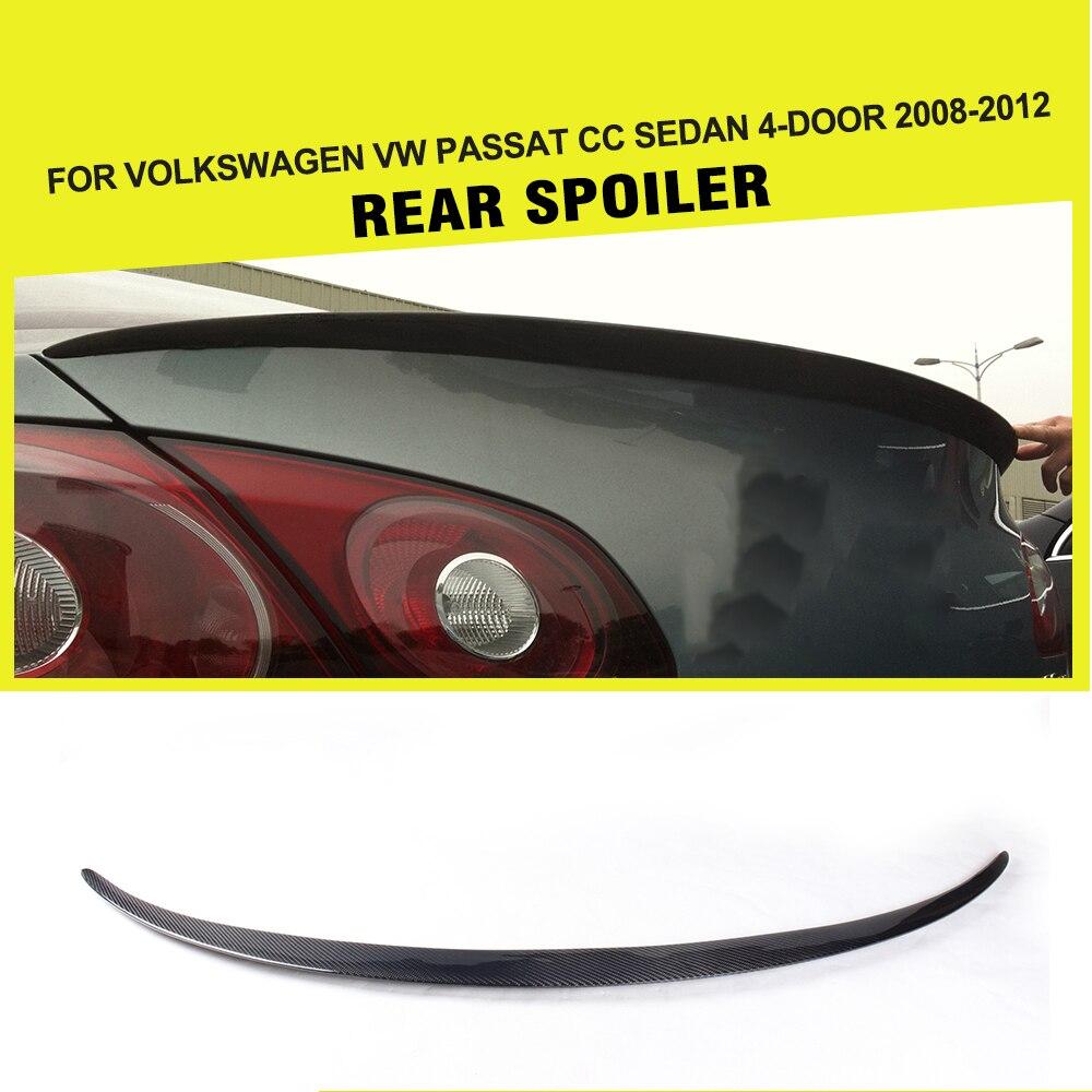 Carbon Fiber Auto Car Rear Spoiler Wing For Volkswagen VW Passat CC 2008-2012