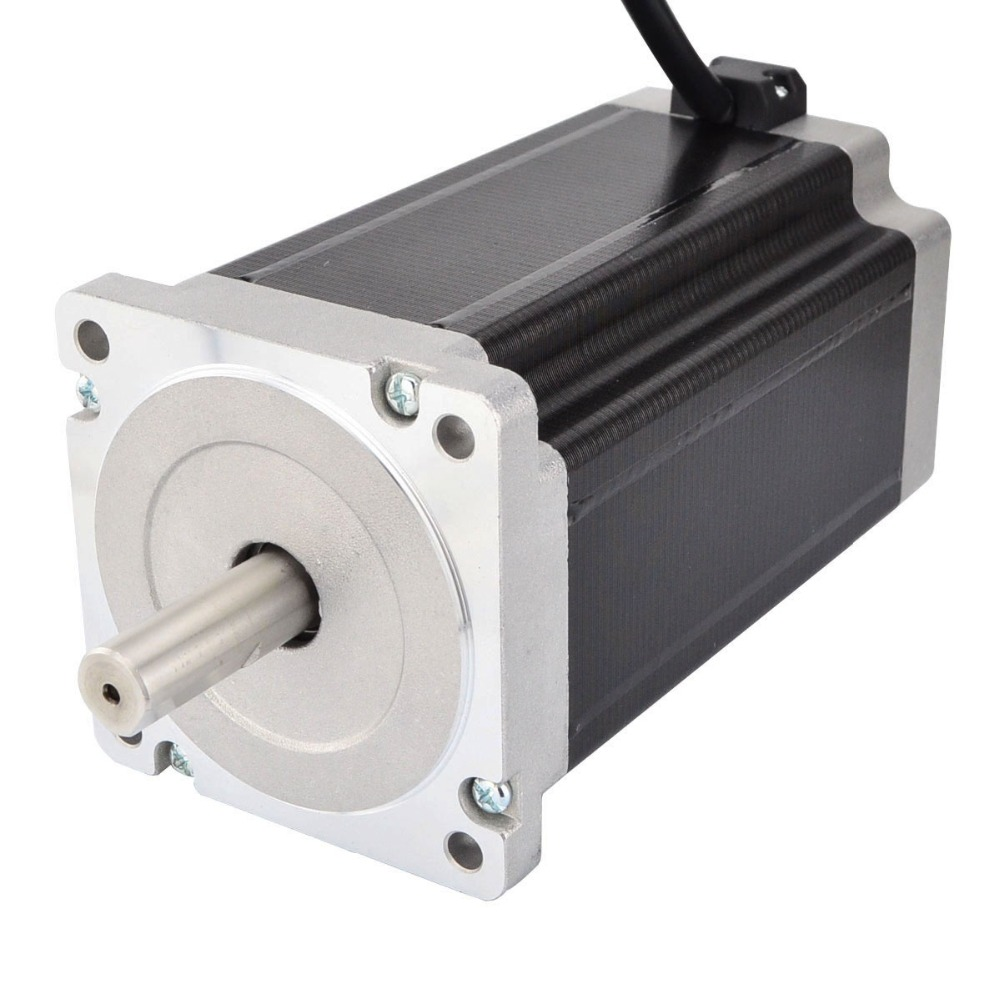 Nema 34 Stepper Motor 13Nm/1841oz.in 5A 4-wires 14mm Shaft DIY CNC Mill Laser Lathe RouterNema 34 Stepper Motor 13Nm/1841oz.in 5A 4-wires 14mm Shaft DIY CNC Mill Laser Lathe Router