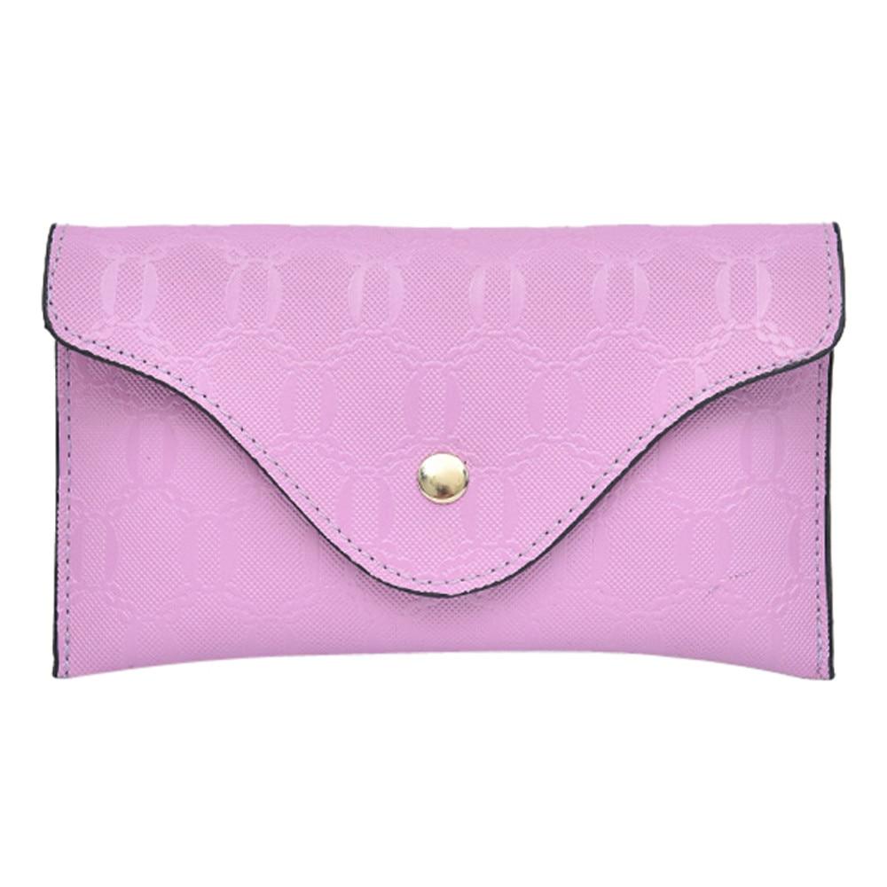 Fashion Women Pure Color Lines Leather Messenger Shoulder Bag Chest Bag Waist Pack Travel Belt Wallets New Arrival