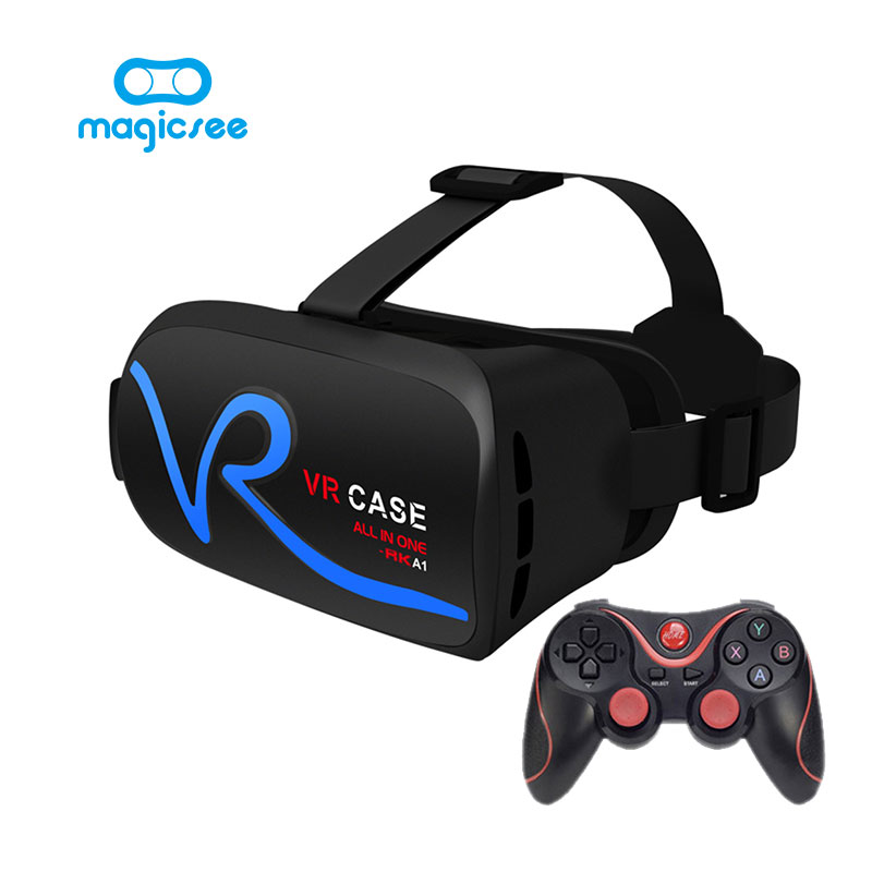 VR <font><b>CASE</b></font> V1 All IN ONE <font><b>Virtual</b></font> <font><b>Reality</b></font> <font><b>Glasses</b></font> for 4-5.0 inches Phone 3D IMAX Touch Control Mobile VR <font><b>Glasses</b></font>+<font><b>Remote</b></font> control